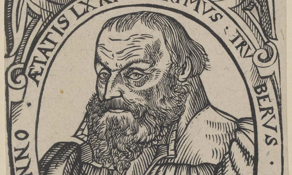 Primus Truber, Kupferstich von 1578; Foto: Wikipedia, gemeinfrei