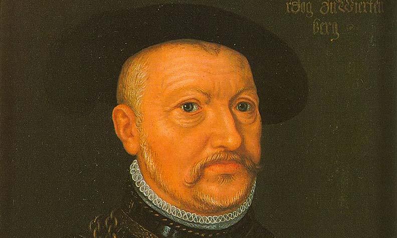 Herzog Ulrich von Württemberg, Ölgemälde von unbekanntem Künstler; Foto: Wikipedia, gemeinfrei