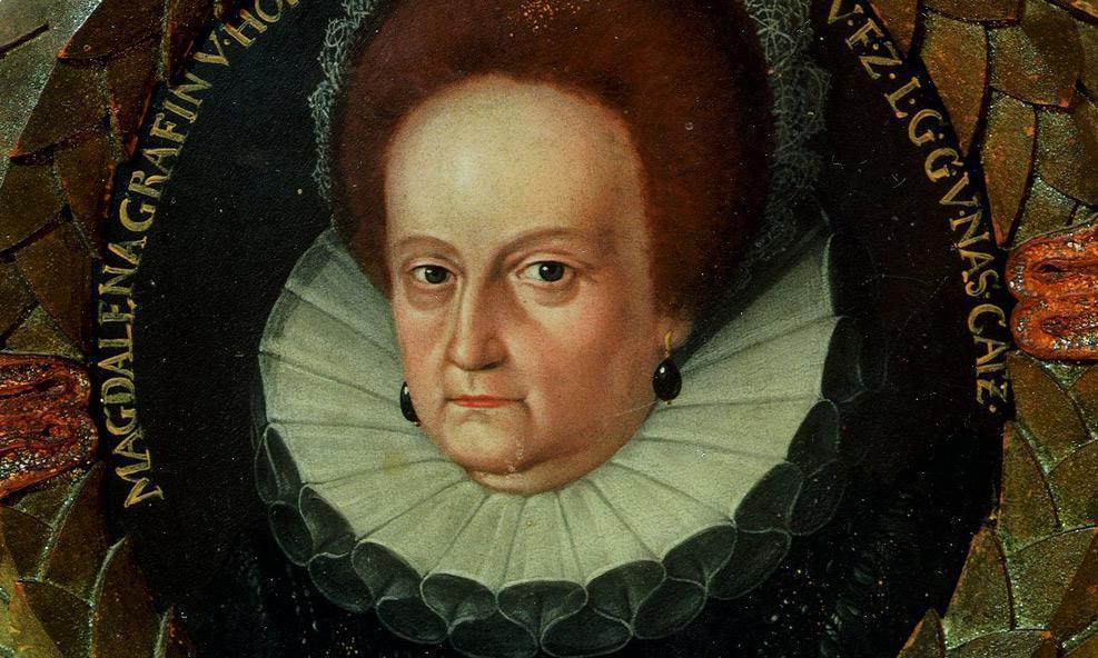 Magdalena von Nassau-Katzenelnbogen (1547–1633); Foto: Hohenlohe Zentralarchiv, Neuenstein