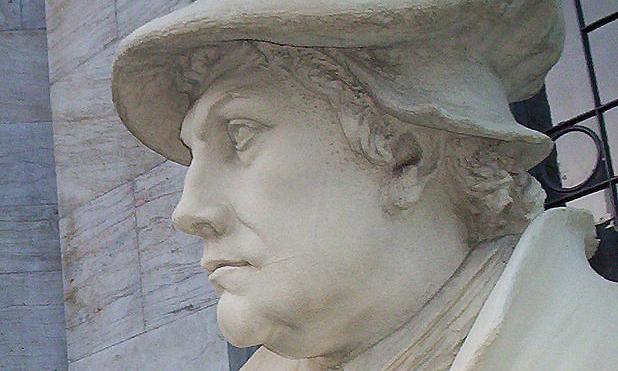 Statue von Martin Luther; Foto: Wikipedia gemeinfrei