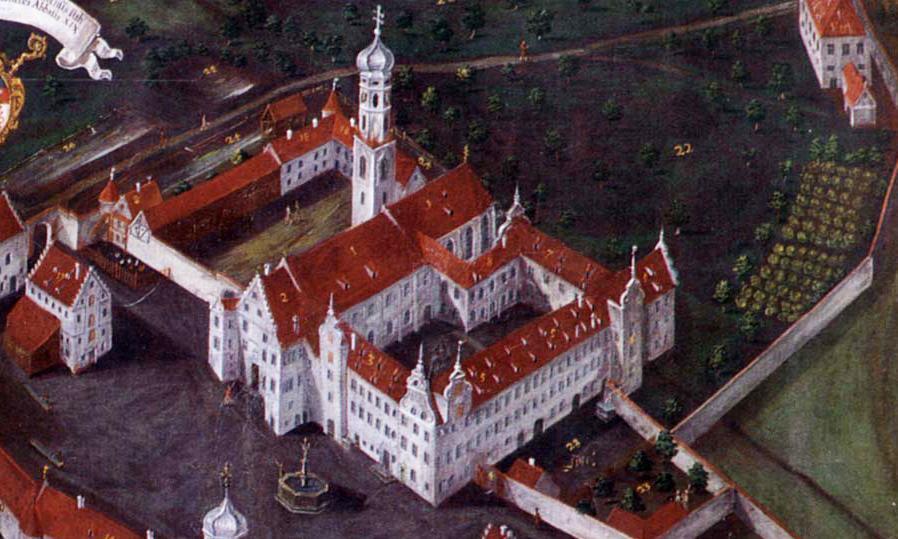 Historische Ansicht von Kloster Schussenried, Gemälde von 1721 im Klostermuseum; Foto: Staatliche Schlösser und Gärten Baden-Württemberg, Arnim Weischer