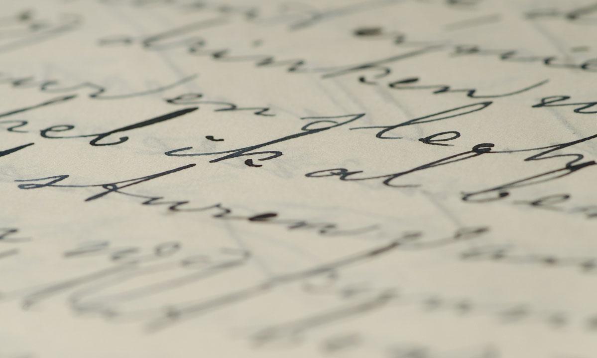 Detail aus einem Brief; Foto: pixabay, gemeinfrei