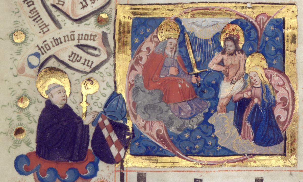 Detail aus Lorcher Chorbuch, Anfang 16. Jahrhundert; Foto: Staatliche Schlösser und Gärten Baden-Württemberg