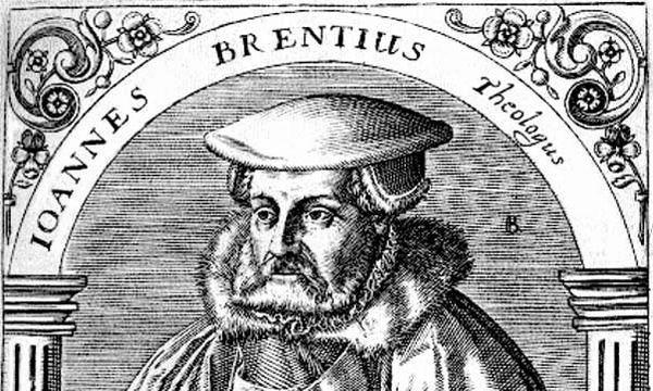Johannes Brenz, Holzschnitt um 1590