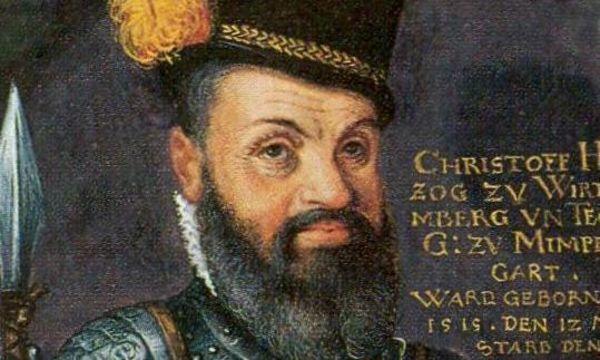 Herzog Christoph von Württemberg, Kupferstich von J. Hyrt nach C. Mayer um 1560