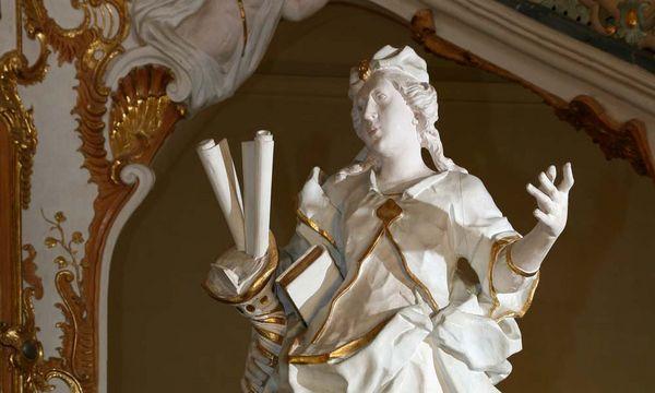 Sapientia, Skulptur im Kloster Schöntal; Foto: Staatliche Schlösser und Gärten Baden-Württemberg, Jürgen Besserer
