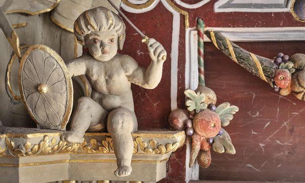 Detail aus dem Rittersaal von Schloss Weikersheim