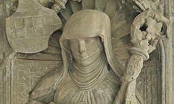 Bildnis der Veronika von Rietheim auf einer Buchseite
