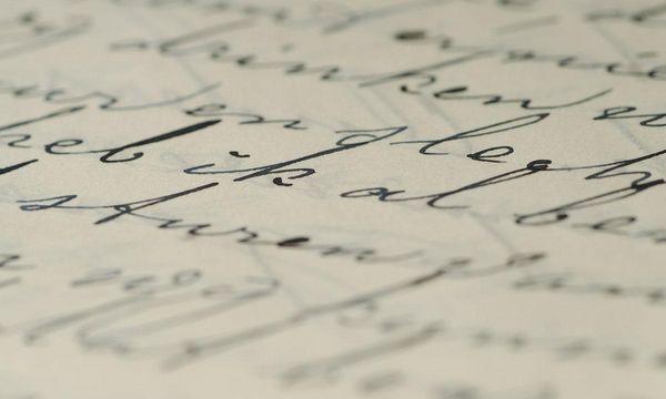 Detail aus einem Brief