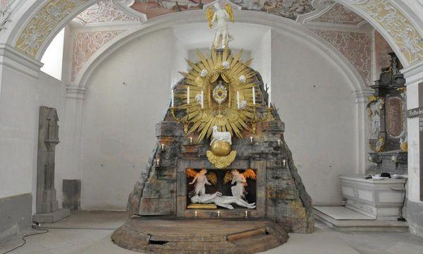 Heiliges Grab in der Klosterkirche Schöntal; Foto: Felix Muhle